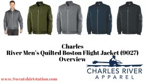 Charles River Men's Quilted Boston Flight Jackets