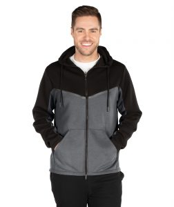 Charles River Men's Seaport Full Zip Hoodie 9091 Black Grey