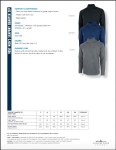 Charles River Men's Seaport Quarter Zip (9057) Colors and Sizes