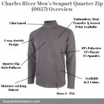 Charles River Men's Seaport Quarter Zip (9057) Overview