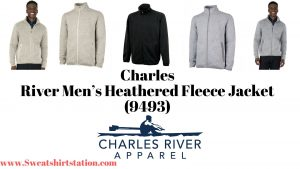 Charles River Mens Heathered Fleece Jacket 9493 Colors