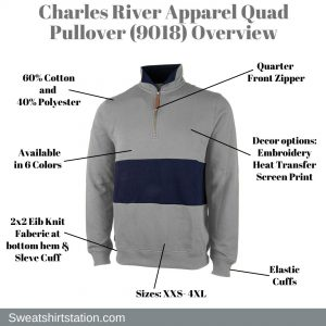 Charles River Quad Pullover (9018) Overview
