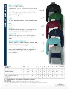 Charles River Quad Pullover Unisex (9018) Color and Sizes