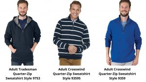 Charles River Quarter-Zip Sweatshirts