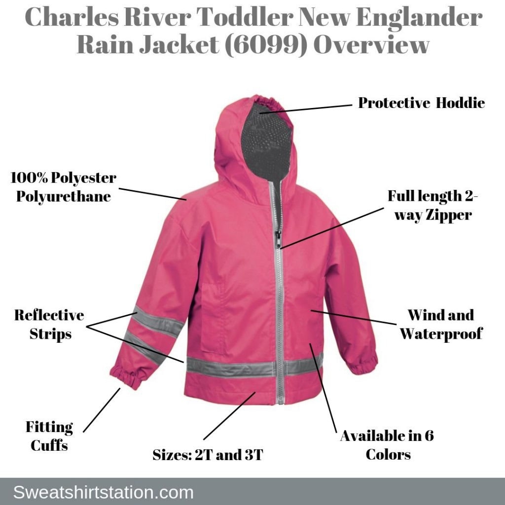 Charles River Toddler New Englander Rain Jacket (6099) Overview