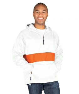 Charles River Unisex Classic Striped Pullover Jacket White