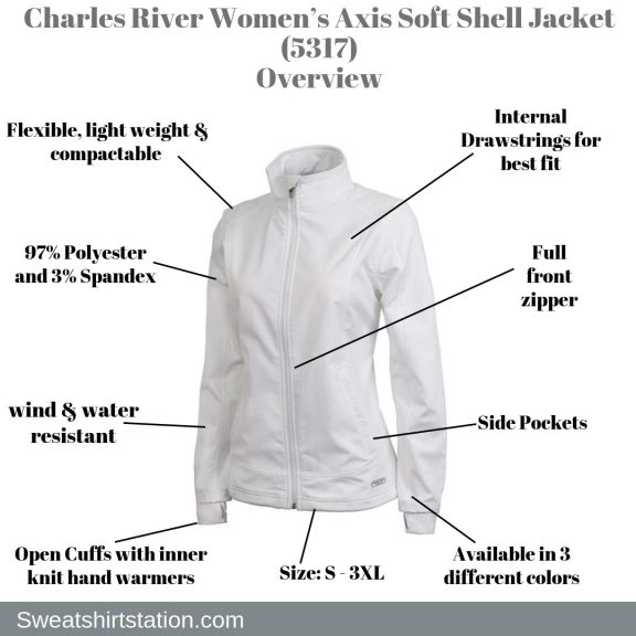 Charles River Women's Axis Soft Shell Jacket (5317) Overview