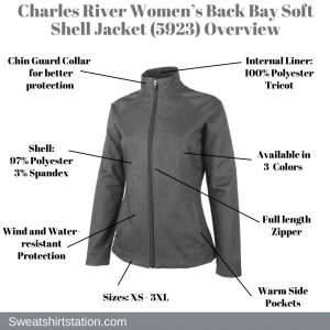 Charles River Women's Back Bay Soft Shell Jacket (5923) Overview