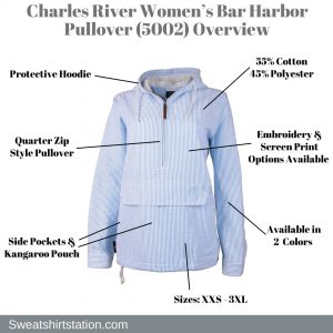 Charles River Women's Bar Harbor Pullover (5002) Overview