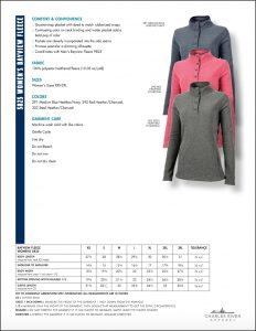 Charles River Women's Bayview Fleece Pullover (5825) Colors and sizes