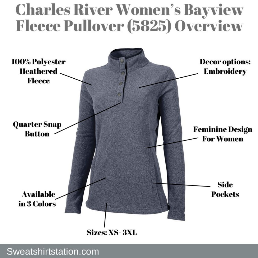 Charles River Women's Bayview Fleece Pullover (5825) Overview