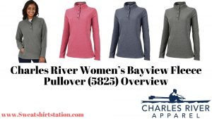 Charles River Women's Blesayview Fleece Pullover (5825) Sty