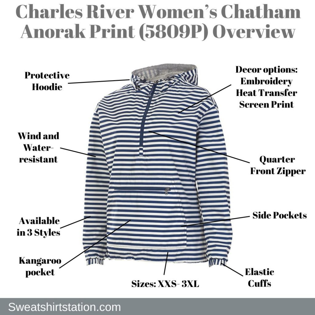 Charles River Women's Chatham Anorak Print (5809P) Overview