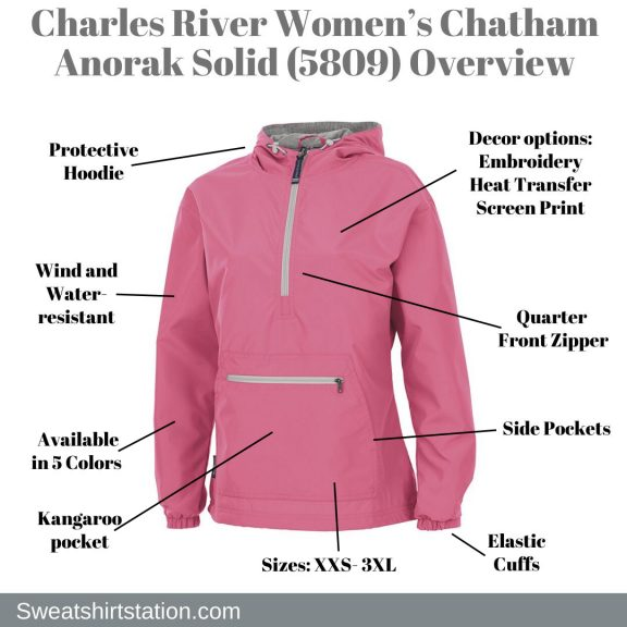 Charles River Women's Chatham Anorak Solid (5809) Overview