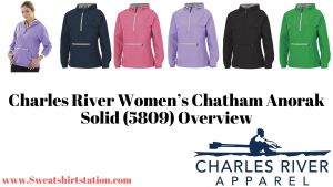 Charles River Women's Chatham Anorak Solid (5809) colors