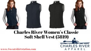 Charles River Women's Classic Soft Shell Vest (5819) Styles