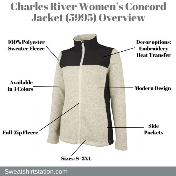 Charles River Women's Concord Jacket (5995) Overview