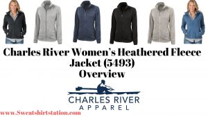 Charles River Women's Heathered Fleece Jacket (5493) Overview Colors