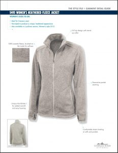 Charles River Women's Heathered Fleece Jacket Overview