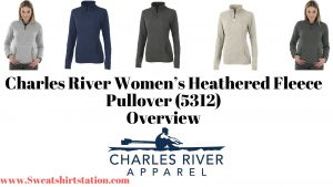 Charles River Women's Heathered Fleece Pullover (5312) Banner
