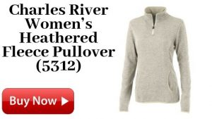 Charles River Women's Heathered Fleece Pullover 5312 For Sale