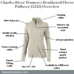 Charles River Women's Heathered Fleece Pullover 5312 Overview