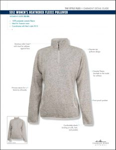 Charles River Women's Heathered Fleece Pullover Overview