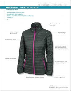 Charles River Women's Lithium Quilted Jacket Overview