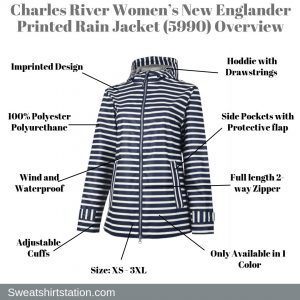 Charles River Women's New Englander Printed Rain Jacket (5990) Overview