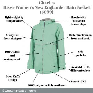 Charles River Women's New Englander Rain Jacket (5099)