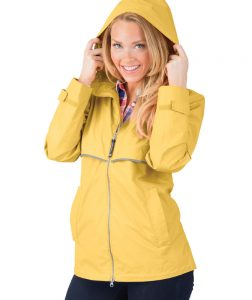 Charles River Women's New Englander Rain Jacket (5099) Yellow