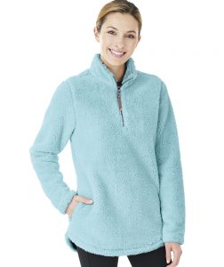 Charles River Women's Newport Fleece Pullover (5876) Aqua