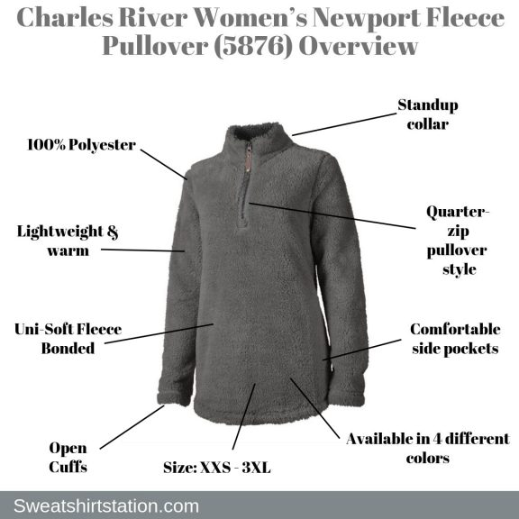 Charles River Women's Newport Fleece Pullover (5876) Overview