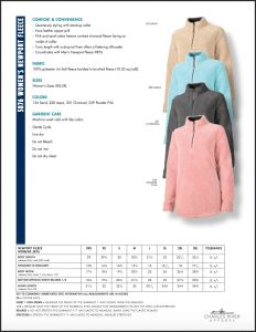 Charles River Women's Newport Fleece Pullover (5876) Size and Colors