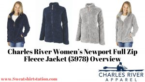 Charles River Women's Newport Full Zip Fleece Jacket (5978) Colors