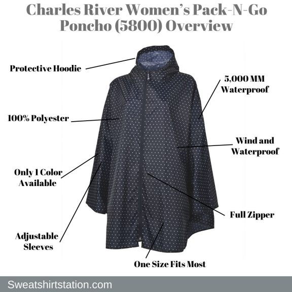 Charles River Women's Pack-N-Go Poncho (5800) Overview