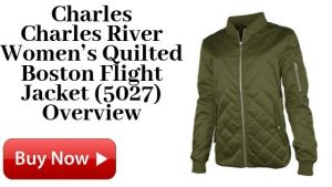 Charles River Women's Quilted Boston Flight Jacket (5027) For Sale