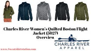 Charles River Women's Quilted Boston Flight Jacket (5027) Styles and Colors
