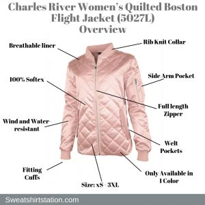 Charles River Women's Quilted Boston Flight Jacket (5027L) Overview
