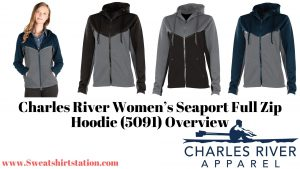 Charles River Women's Seaport Full Zip Hoodie colors and styles