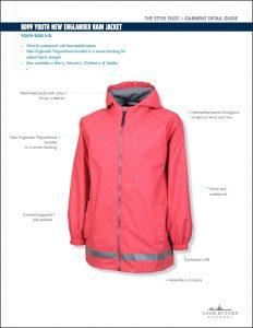 Charles River Youth New Englander Rain Jacket (8099)