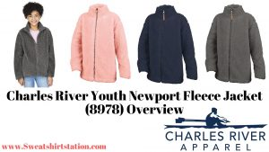 Charles River Youth Newport Fleece Jacket (8978) Colors