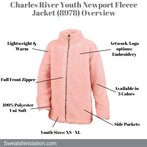 Charles River Youth Newport Fleece Jacket (8978) Overview