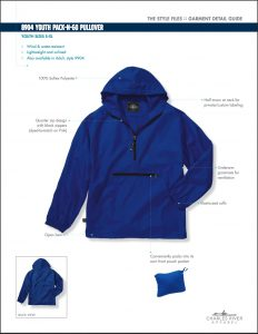 Charles River Youth Pack-N-Go Pullover (8904)