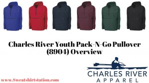 Charles River Youth Pack-N-Go Pullover (8904) Colors