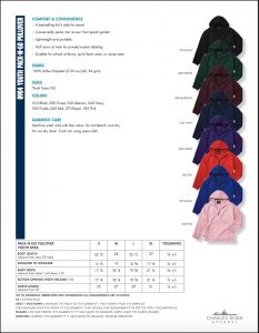 Charles River Youth Pack-N-Go Pullover (8904) Colors and Sizes