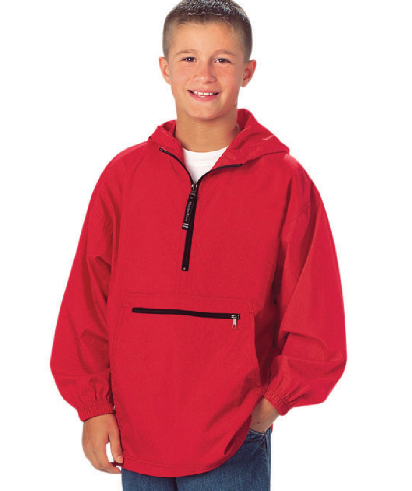 Charles River Youth Pack-N-Go Pullover (8904) Model Red