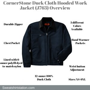 CornerStone Duck Cloth Hooded Work Jacket (J763) Overview