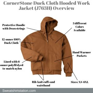 CornerStone Duck Cloth Hooded Work Jacket (J763H) Overview