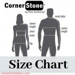 Cornerstone Apparel Size Chart